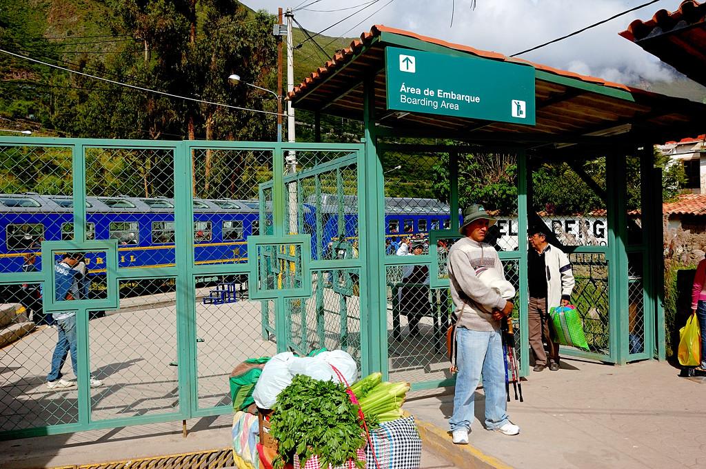 На вокзале в Ольянтайтамбо