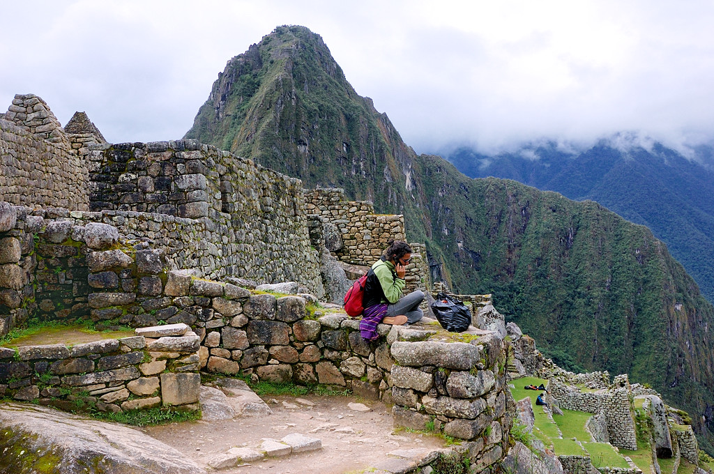 На развалинах Мачу-Пикчу