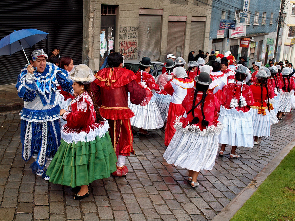 Какой-то карнавал на улицах Ла-Паса