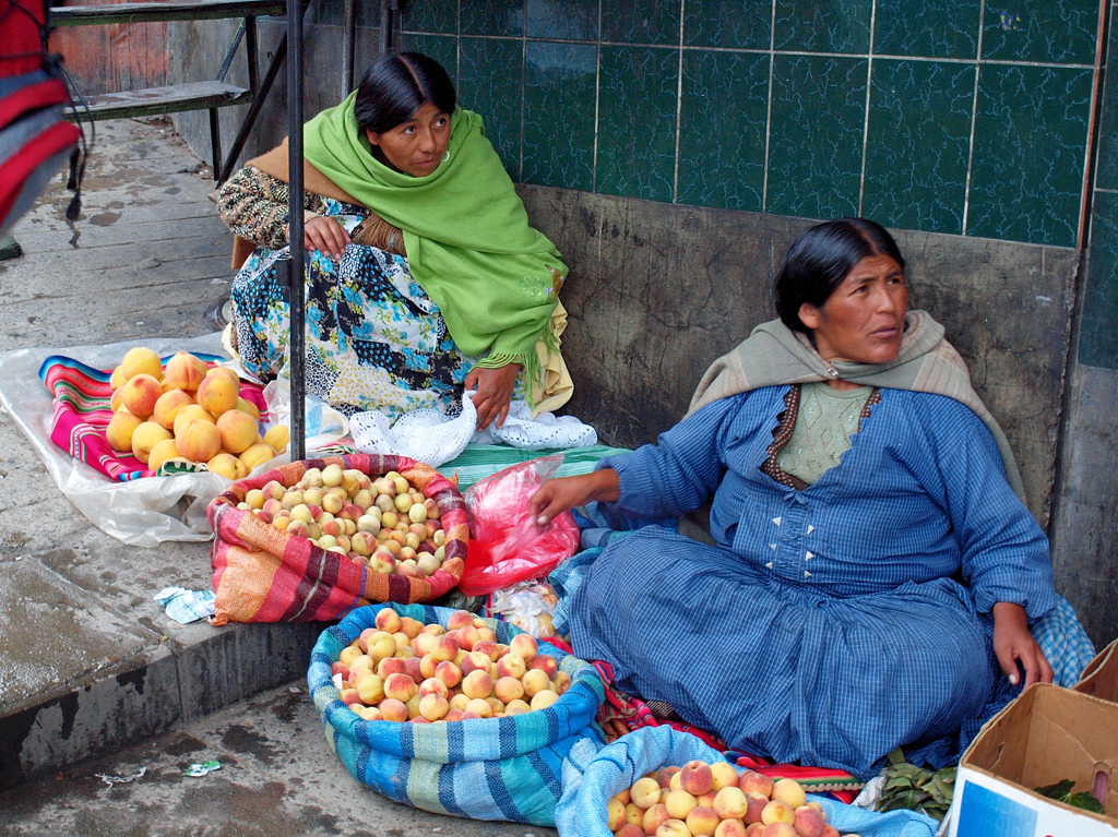 Уличная торговля в Ла-Пасе