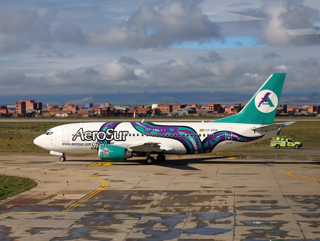 А вот на этом Boeing 737 мы летели из Куско