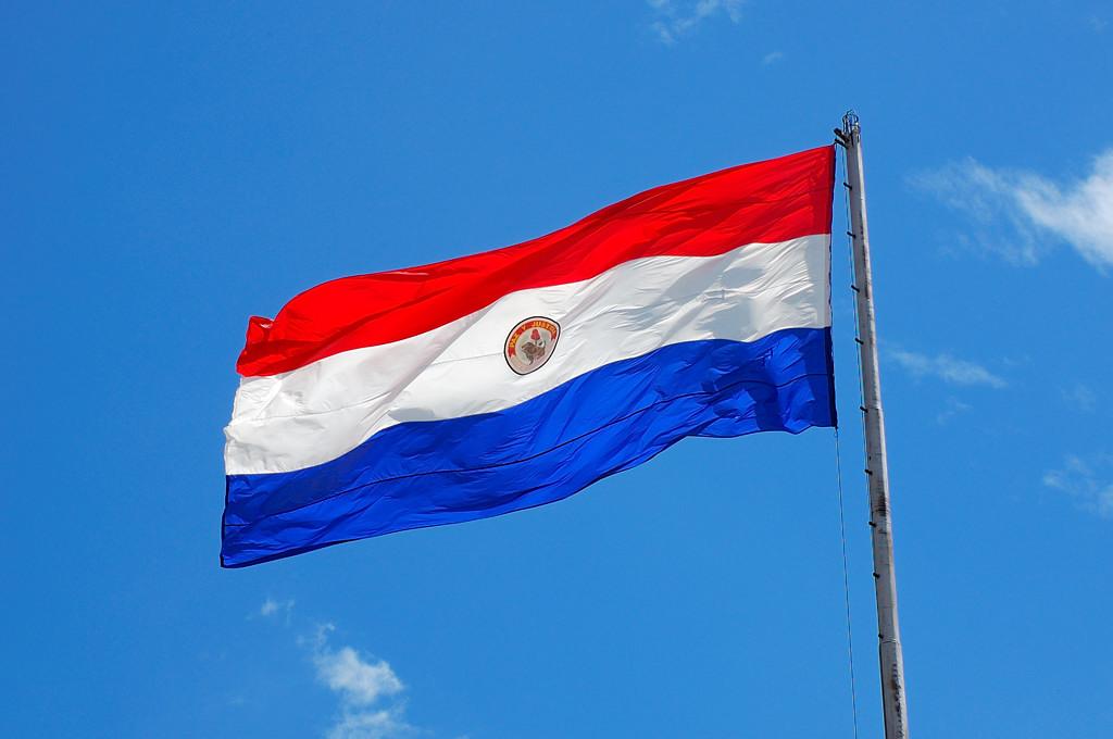 Национальный флаг у президентского дворца