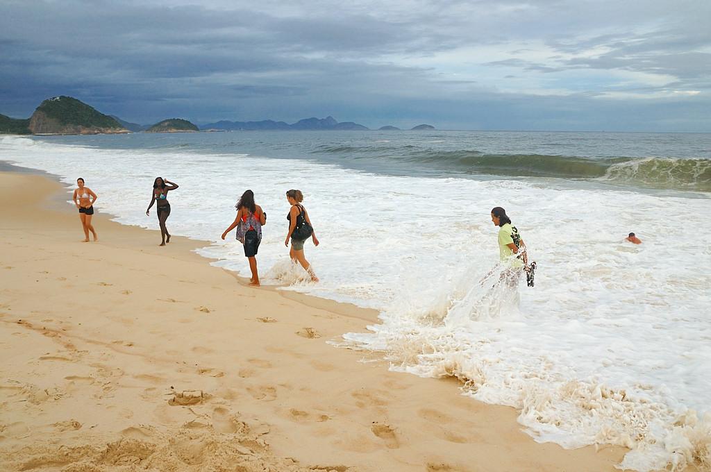 На пляже Копакабана