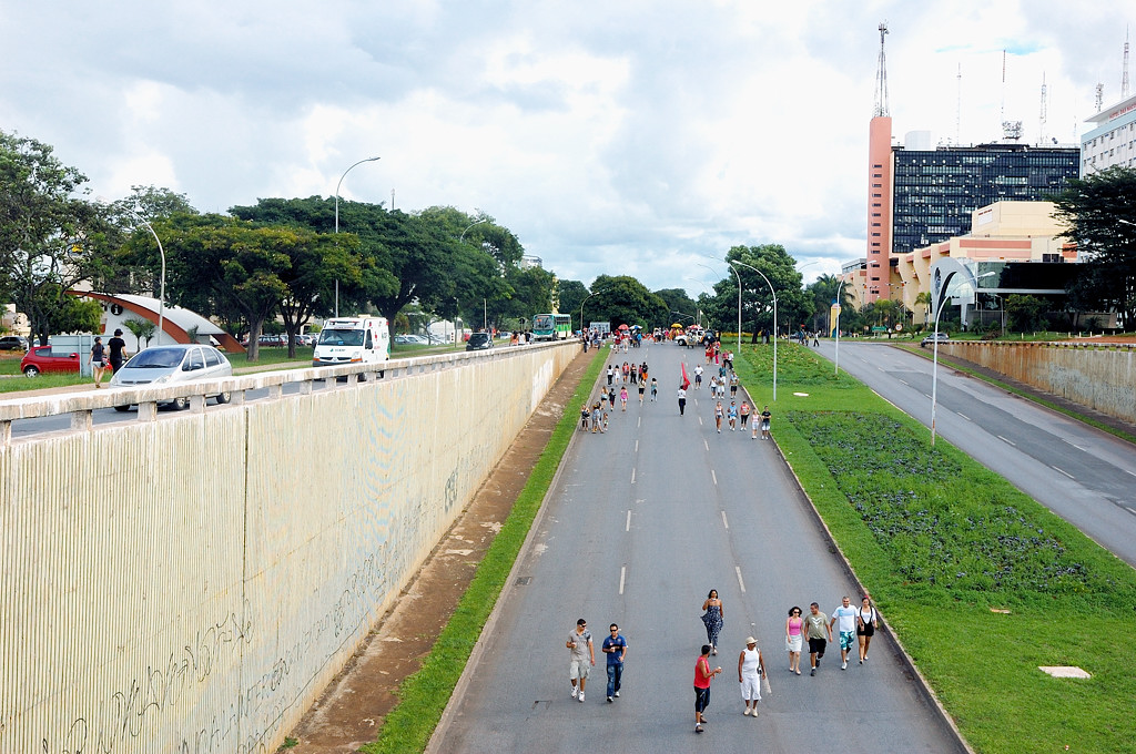 На улицах Бразилиа