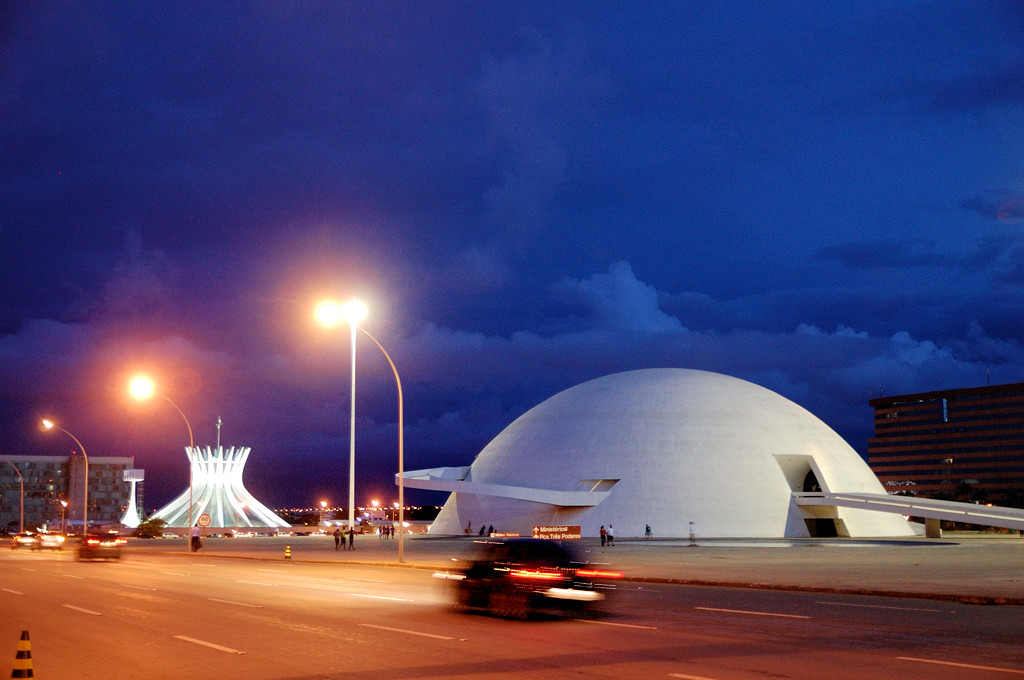 Национальный Музей вечером