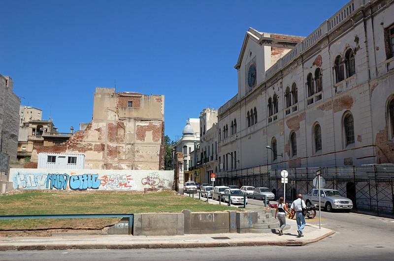 На перекрестке у Банка Уругвая