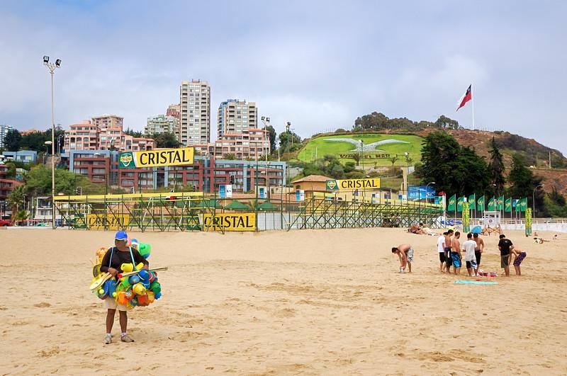 На пляже в Винья-дель-Мар