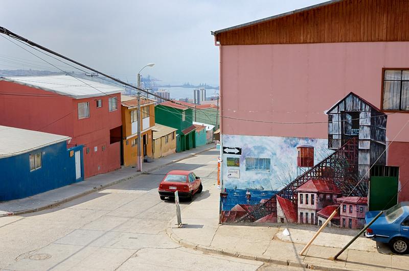 На улицах Вальпараисо у дома-музея Пабло Неруды