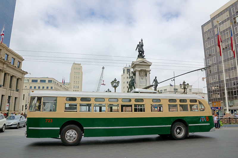 Троллейбус в Вальпараисо