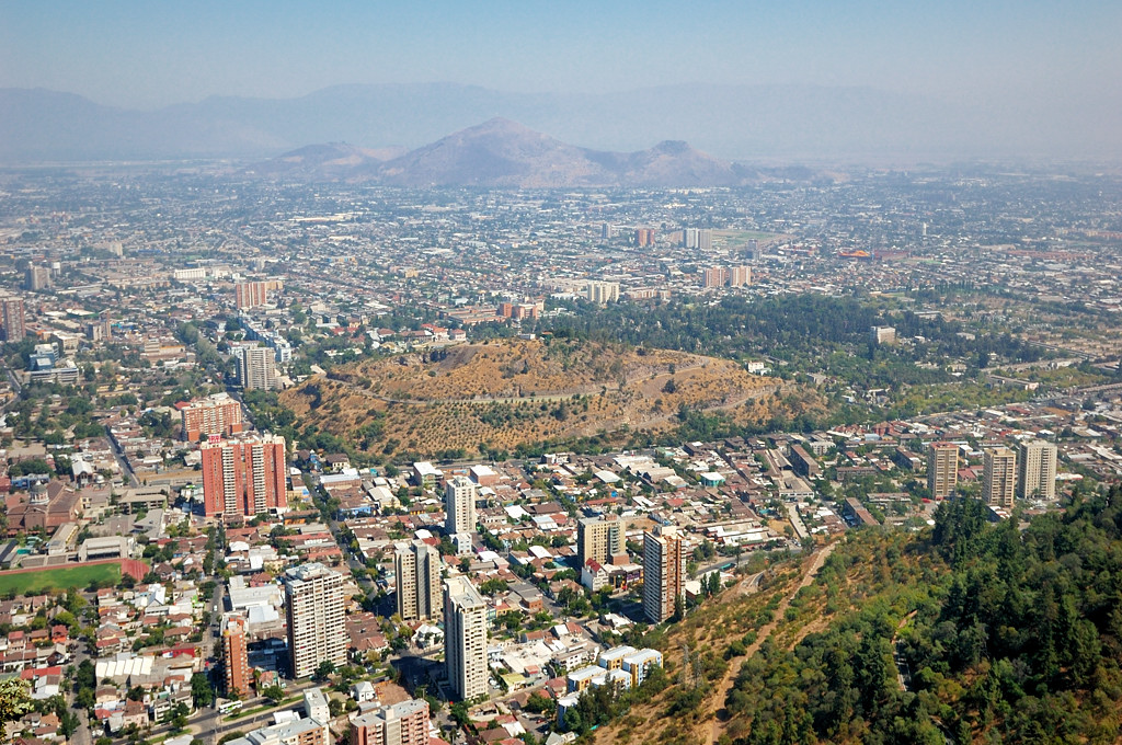 Вид на Сантьяго