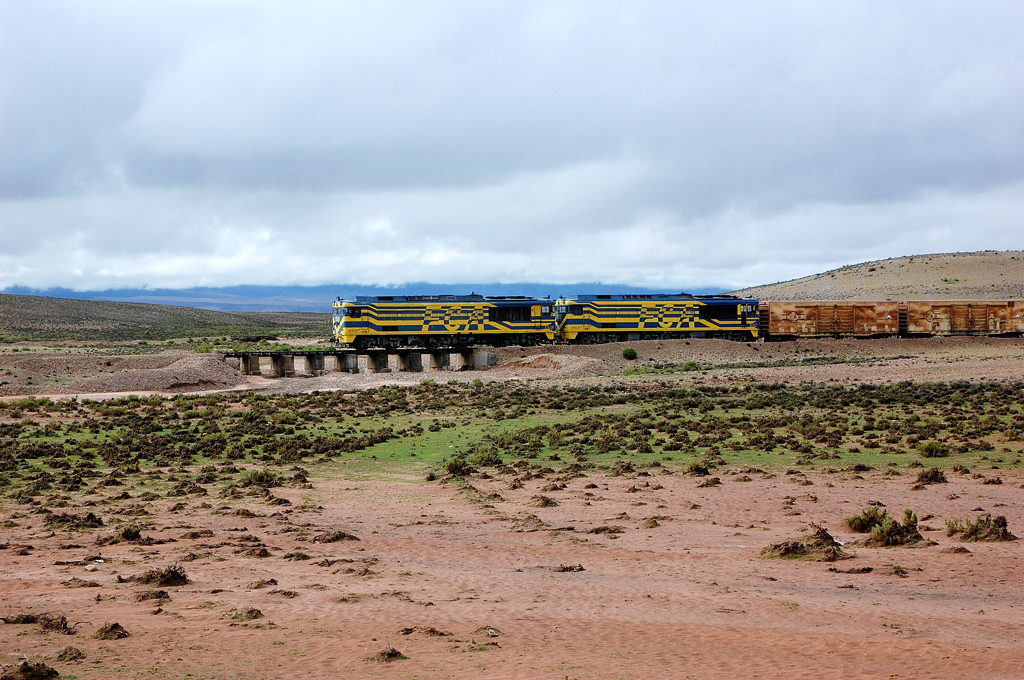 Боливийский товарный поезд