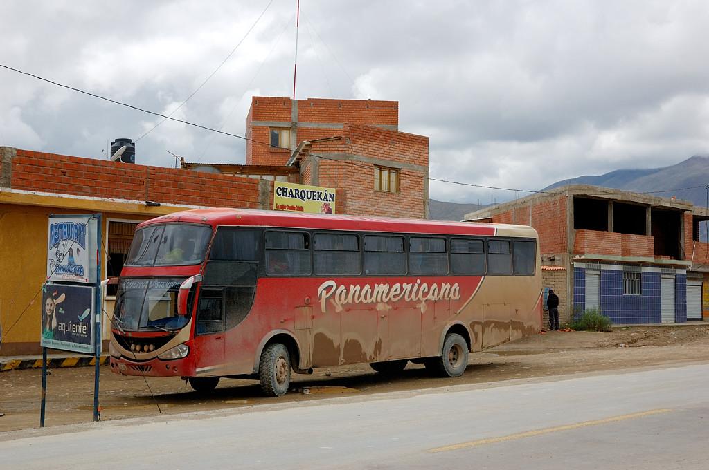 Наш автобус после бессонной ночи