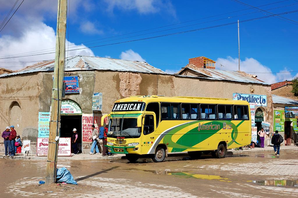 Автовокзал в центре Уюни. Отсюда автобусы идут в Ла-Пас