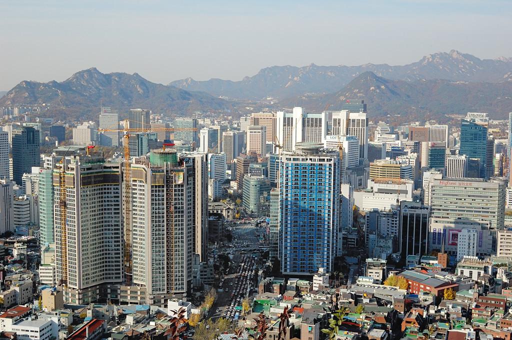 Вид на Сеул с горы