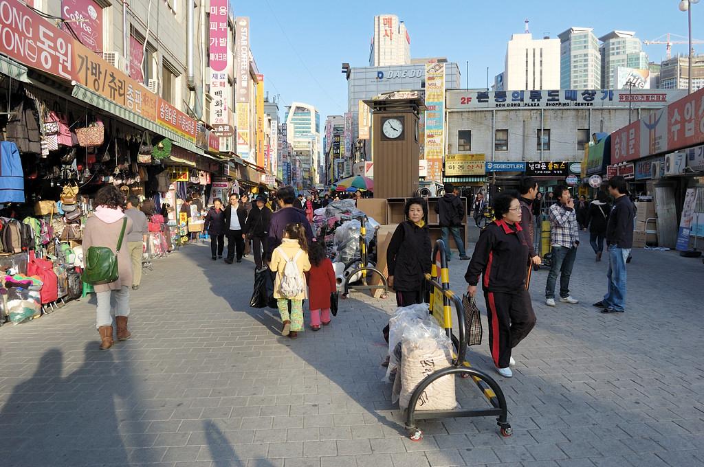На улицах Сеула