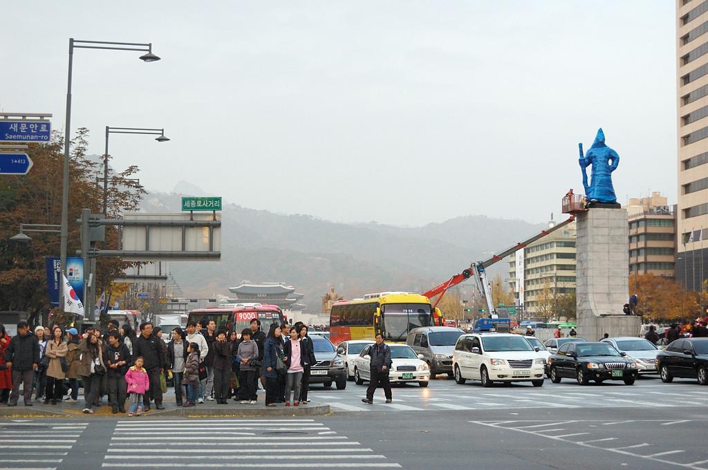 На проспекте Sejongno