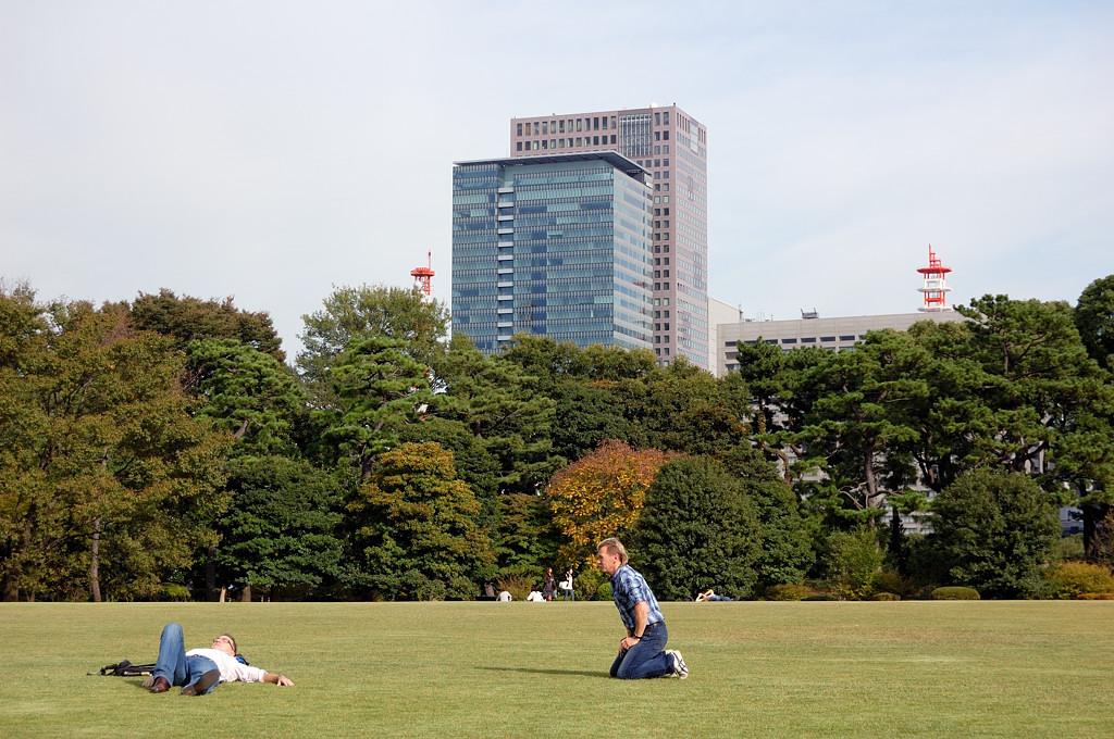 В парке императорского дворца