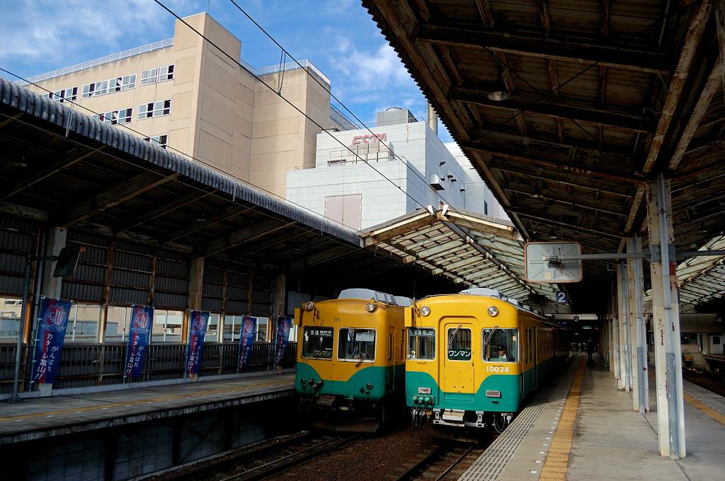 На вокзале Дэнтэцу - Тояма
