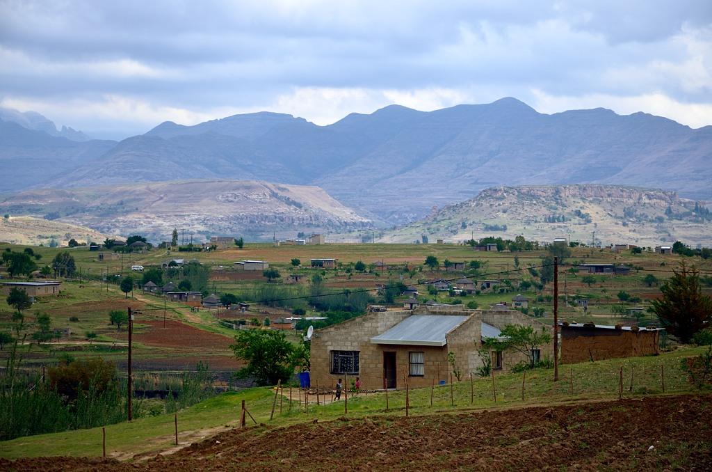 В Лесото повсюду разбросаны деревни