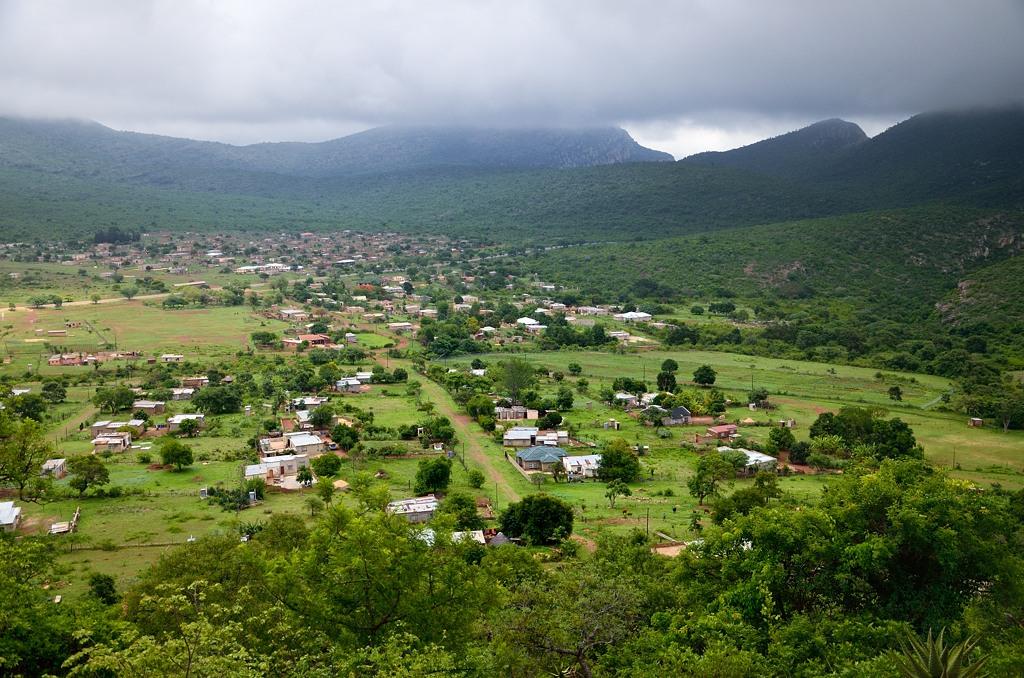 Вид с перевала на деревни