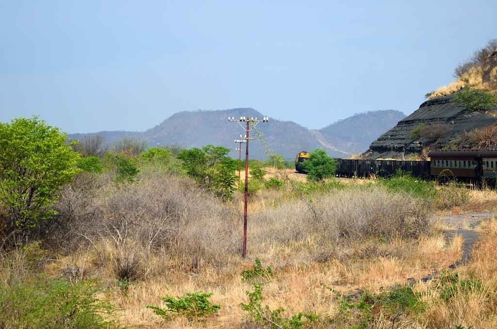 Поезд едет по Зимбабве