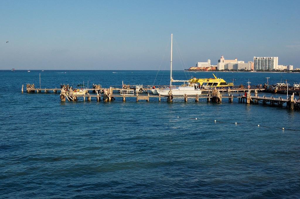 Канкун. Море у отеля Dos Playos