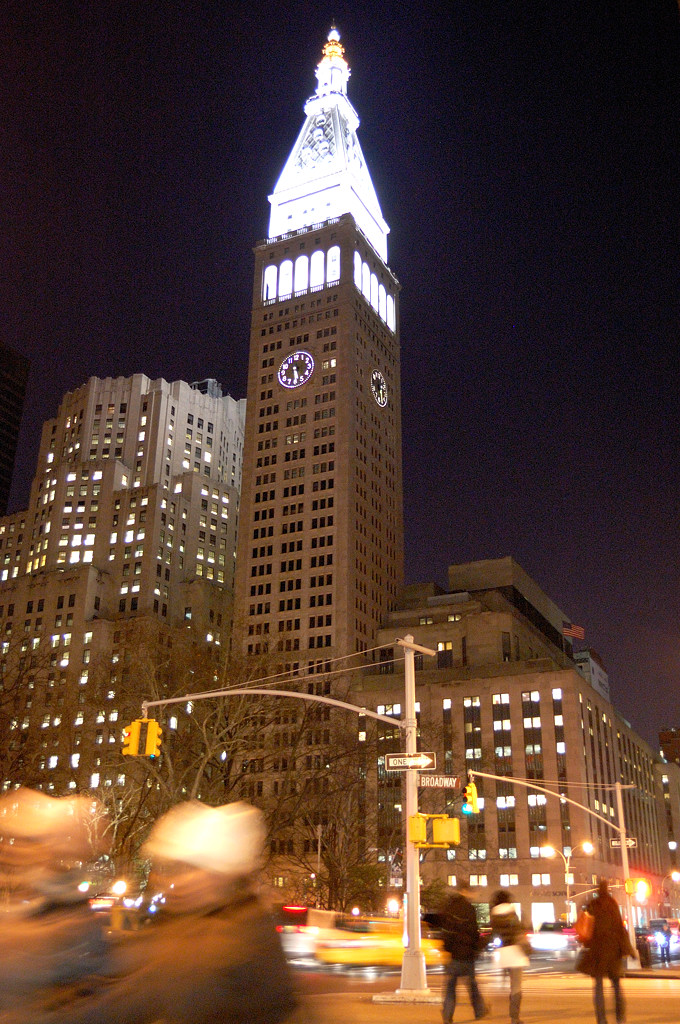 Башня MetLife ночью