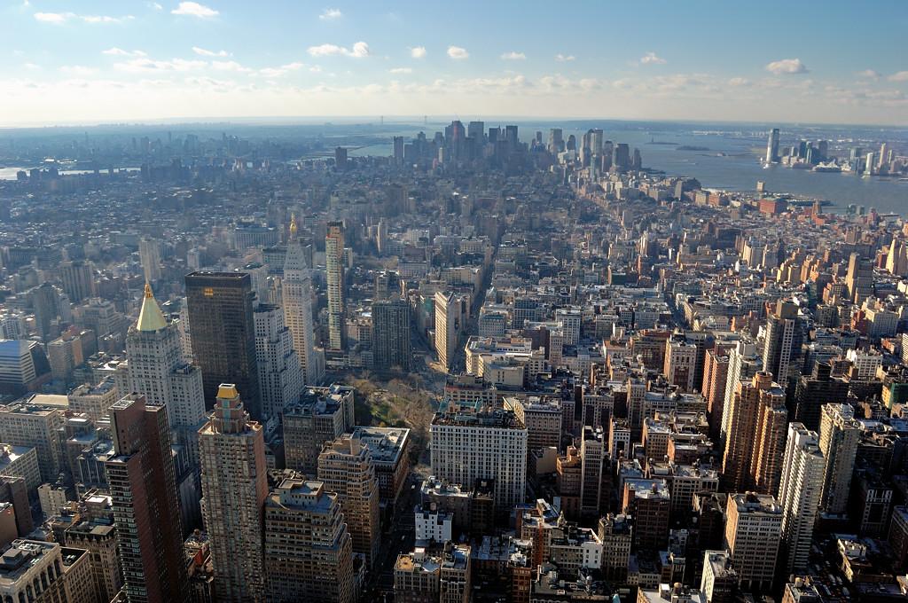 Вид на Манхэттен с Эмпайр Стейт Билдинг