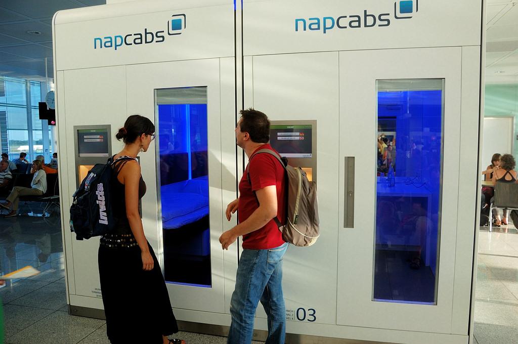 Кабинки для сна в аэропорту Мюнхена