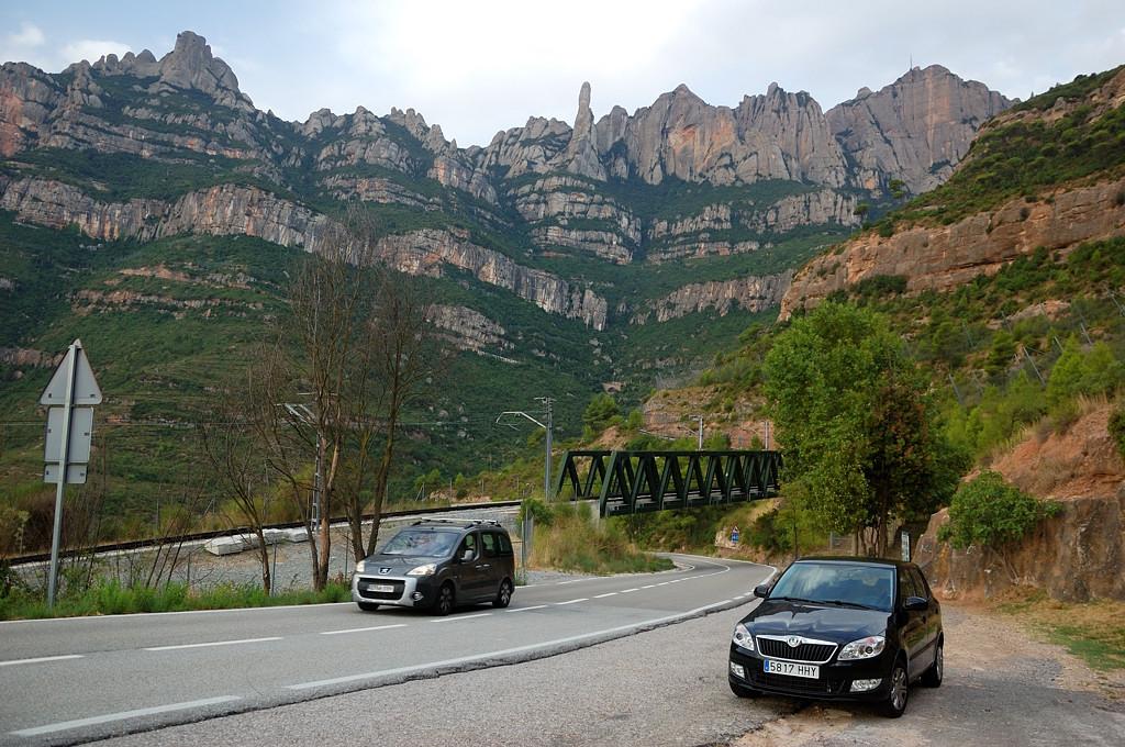 На горной дороге к монастырю Монсеррат