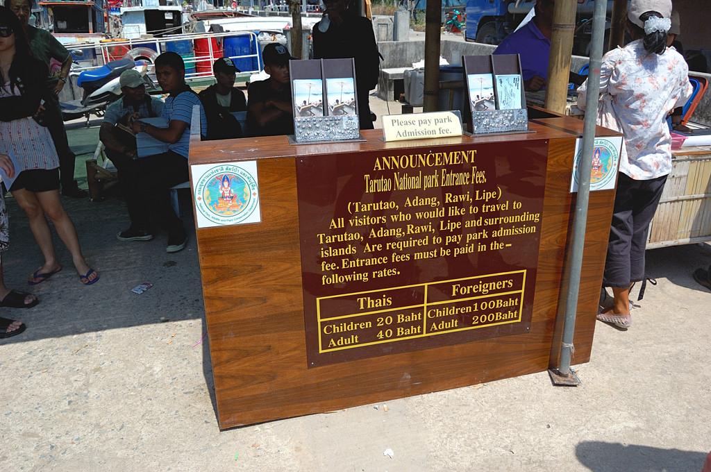 Пак Бара. Цены на въезд в национальный парк