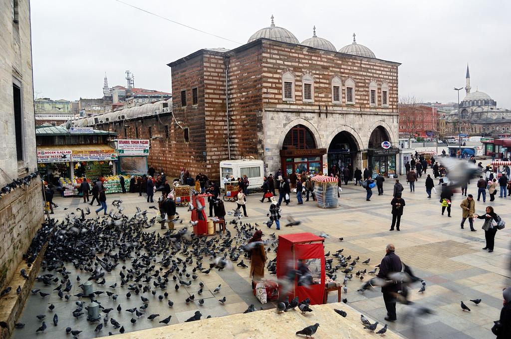 Голуби у Новой мечети