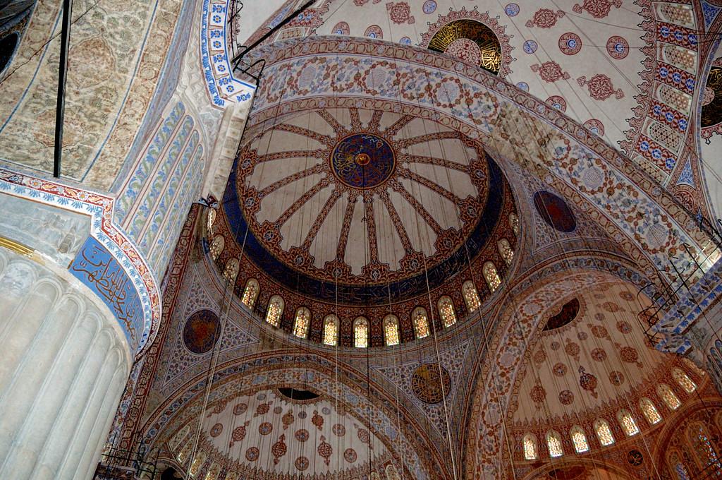 Потолок в Голубой мечети