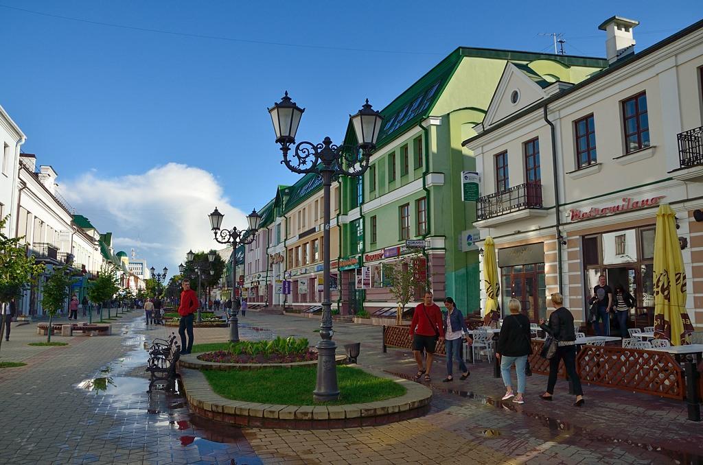 Пешеходная улица. Как и в Гродно, тоже Советская