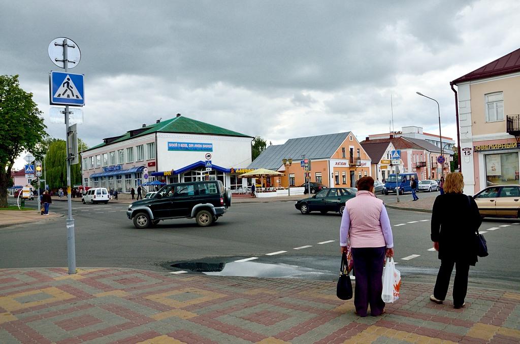Перекресток в центре Кобрина
