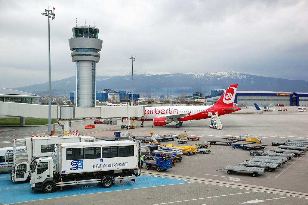Софийский аэропорт - перед отлетом