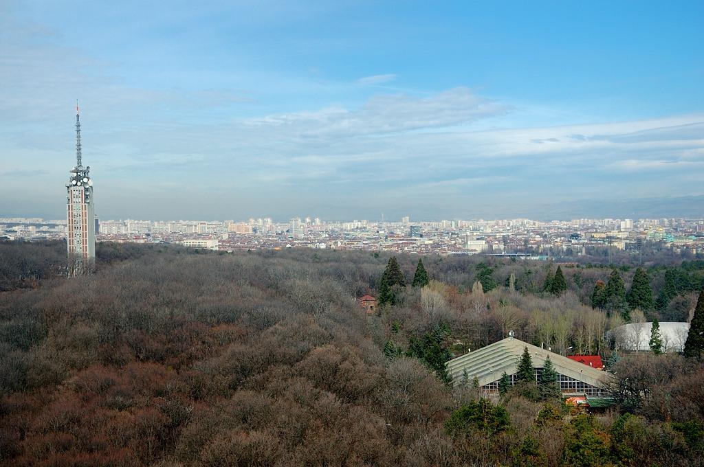 Вид на Софию из окна Парк Отель Москва