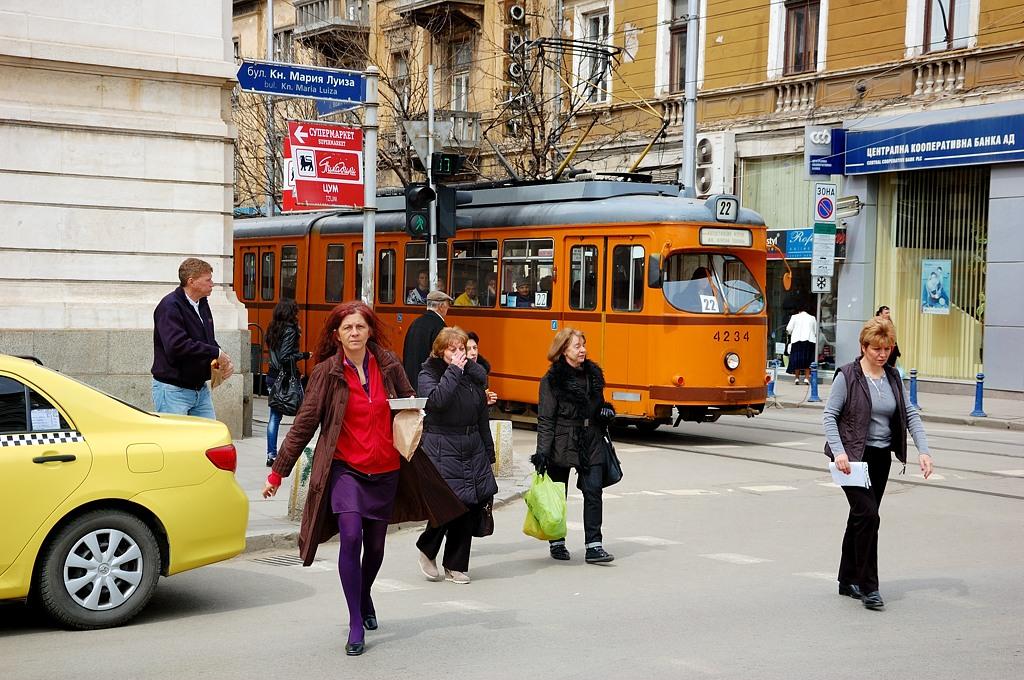 В Софии много колоритных трамваев