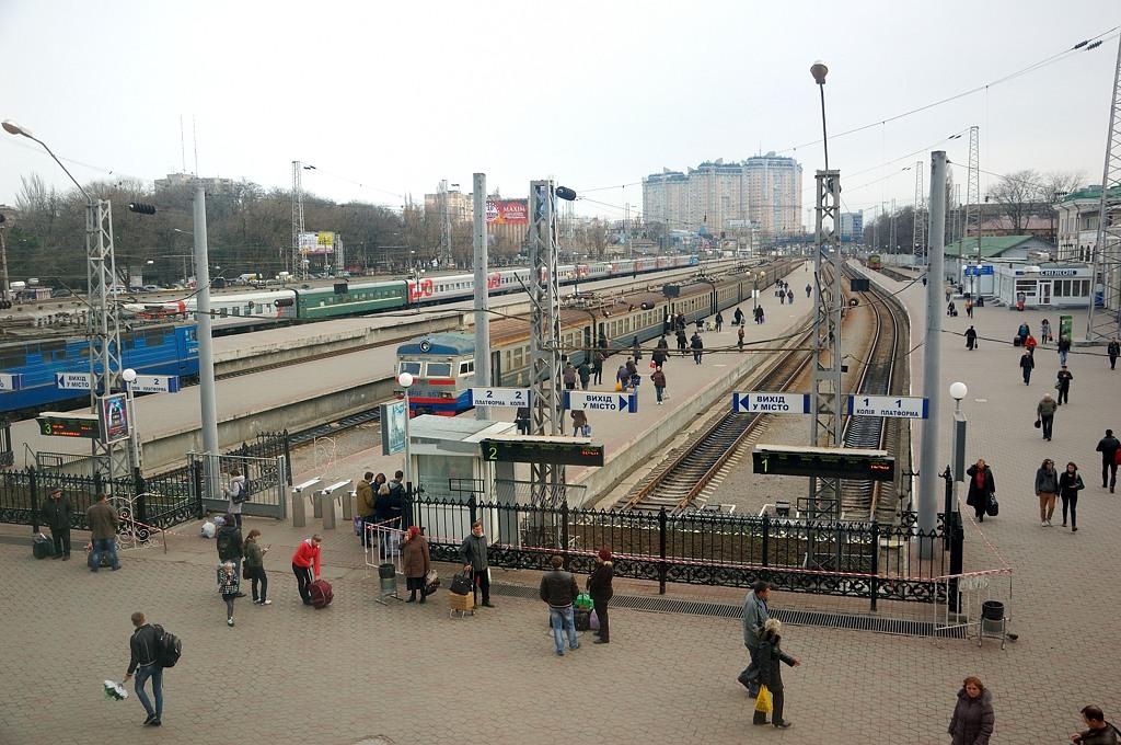 На перроне Одесского вокзала