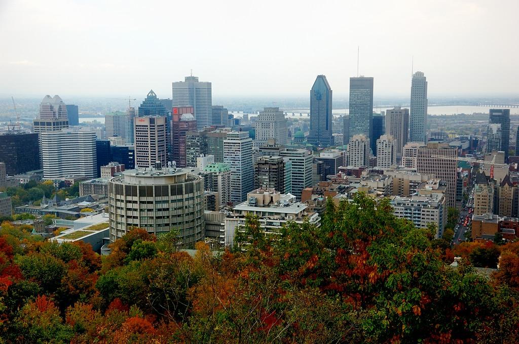 Вид на центр Монреаля