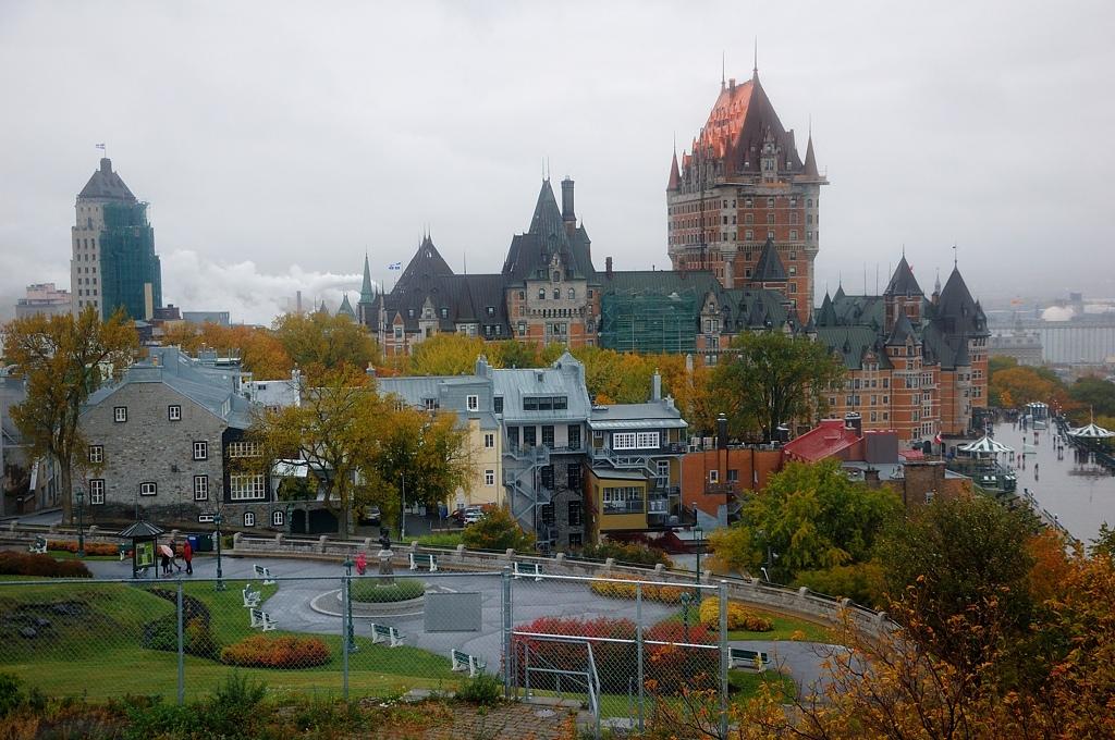 Вид на исторический центр Квебека с Цитадели