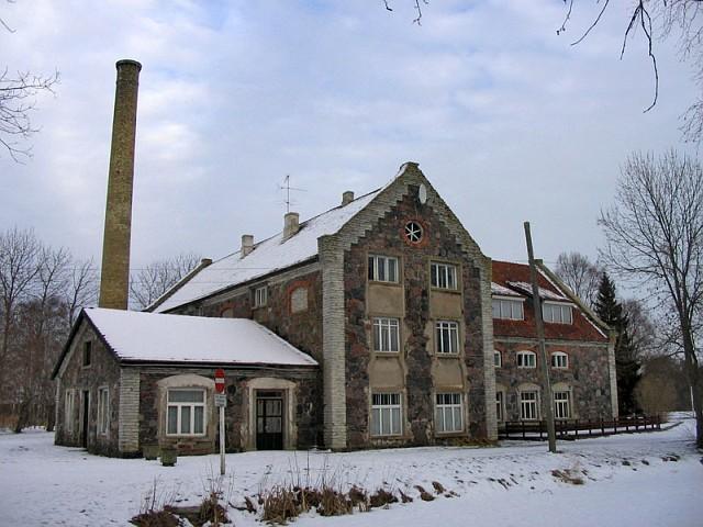 Хийумаа. Старая фабрика на мызе Кыргессааре