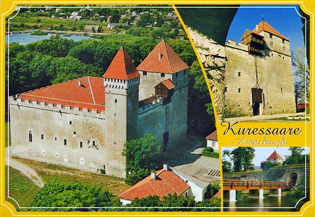 Estonia. the island of saaremaa. the bishop's castle in kuressaare