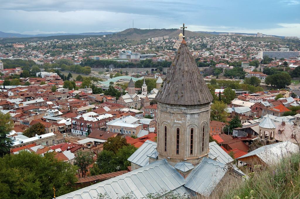 Вид на город из крепости