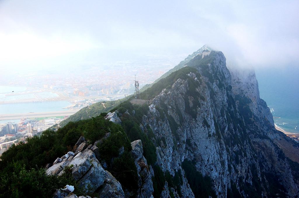 Гребень скалы в тумане