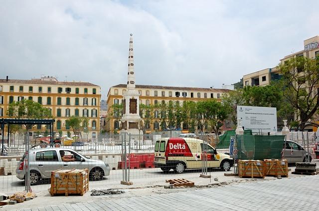 На площади ремонт