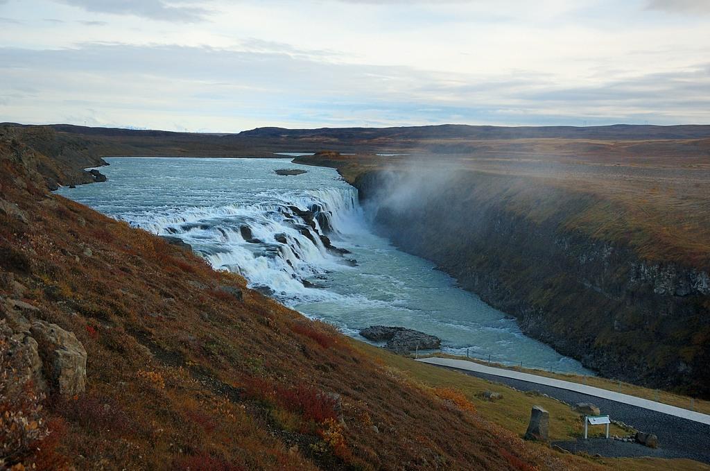 Водопад Гульфосс, вид с лестницы