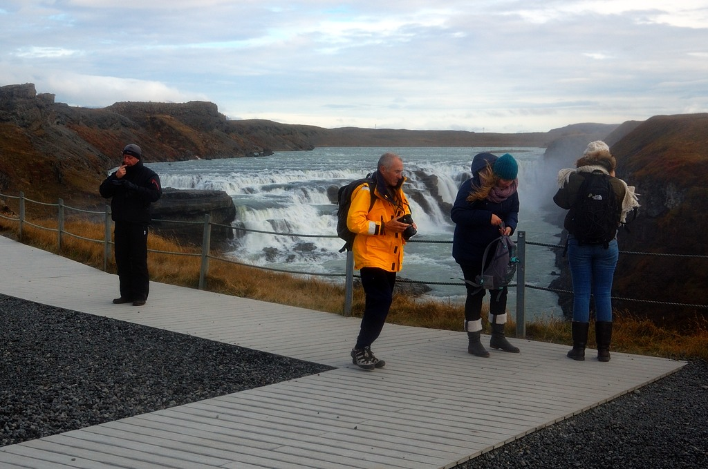 Туристы на смотровой площадке