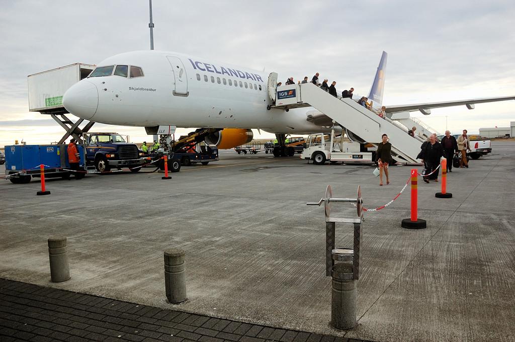 Самолет Лондон-Рейкъявик прилетел в Исландию