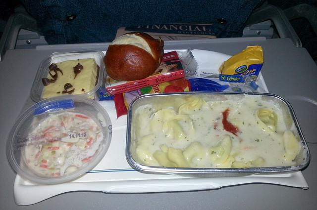 Наш обед на рейсе Франкфурт - Мале. Точнее уже ужин.